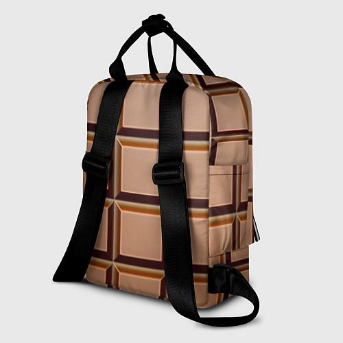 Женский рюкзак Шоколад / 3D – фото 2