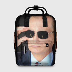 Рюкзак женский Путин в очках цвета 3D — фото 1