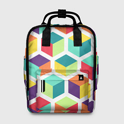 Рюкзак женский 3D кубы цвета 3D — фото 1