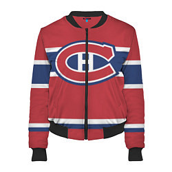 Бомбер женский Montreal Canadiens цвета 3D-черный — фото 1
