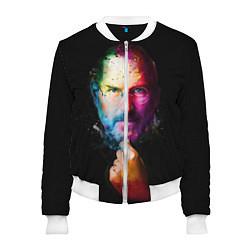 Бомбер женский Стив Джобс цвета 3D-белый — фото 1