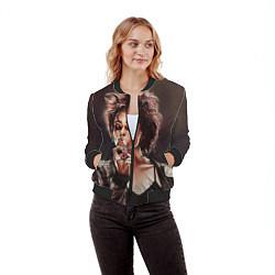 Бомбер женский Марла с сигаретой цвета 3D-черный — фото 2