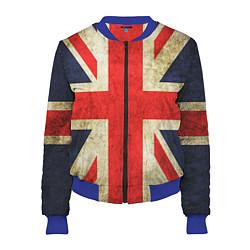Бомбер женский Великобритания цвета 3D-синий — фото 1