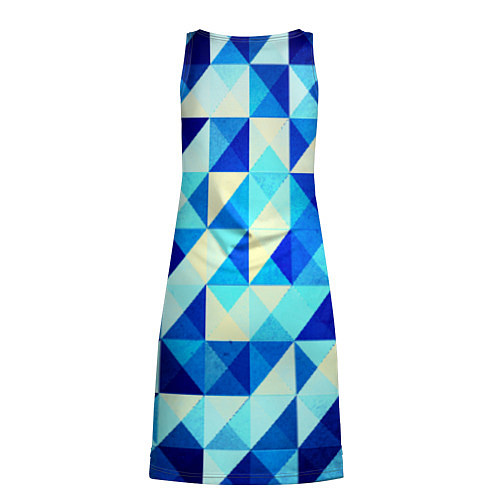 Женская туника Синяя геометрия / 3D – фото 2