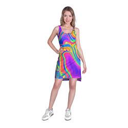 Туника женская Цветные разводы цвета 3D — фото 2
