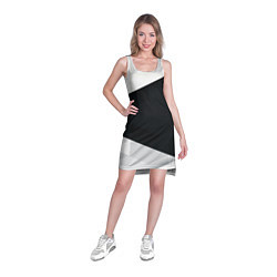 Туника женская Чёрно-белый цвета 3D — фото 2