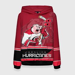 Толстовка-худи женская Carolina Hurricanes цвета 3D-черный — фото 1