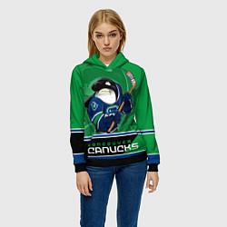 Толстовка-худи женская Vancouver Canucks цвета 3D-черный — фото 2