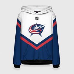 Толстовка-худи женская NHL: Columbus Blue Jackets цвета 3D-черный — фото 1