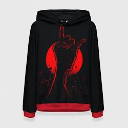 Толстовка-худи женская Zombie Rock цвета 3D-красный — фото 1