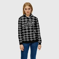 Толстовка-худи женская Arctic Monkeys: Black style цвета 3D-черный — фото 2