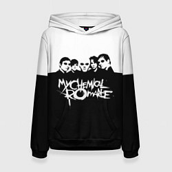 Толстовка-худи женская My Chemical Romance B&W цвета 3D-черный — фото 1
