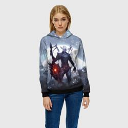 Толстовка-худи женская Dark Knight цвета 3D-черный — фото 2