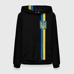 Толстовка-худи женская Украина цвета 3D-черный — фото 1