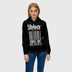 Толстовка-худи женская Slipknot: People Shit цвета 3D-черный — фото 2