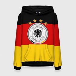 Толстовка-худи женская Немецкий футбол цвета 3D-черный — фото 1