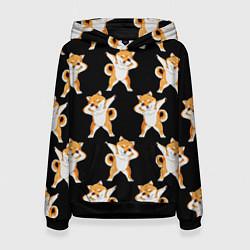 Толстовка-худи женская Foxes Dab цвета 3D-черный — фото 1