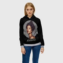 Толстовка-худи женская Rihanna цвета 3D-меланж — фото 2