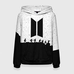 Толстовка-худи женская BTS: Black Stars цвета 3D-черный — фото 1