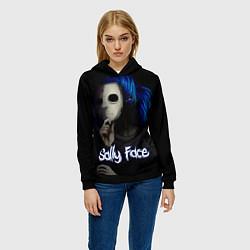 Толстовка-худи женская Sally Face: Dark Mask цвета 3D-черный — фото 2