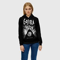Толстовка-худи женская Gojira: Magma цвета 3D-черный — фото 2