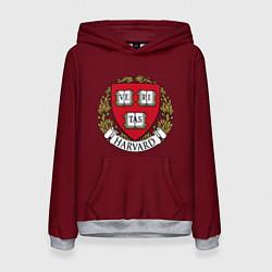 Толстовка-худи женская Harvard University цвета 3D-меланж — фото 1