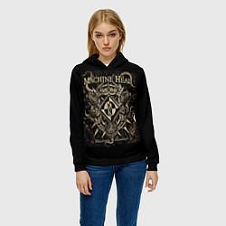 Толстовка-худи женская Machine Head цвета 3D-черный — фото 2