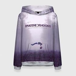 Толстовка-худи женская Imagine Dragons: Silence цвета 3D-меланж — фото 1