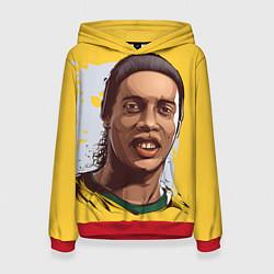 Толстовка-худи женская Ronaldinho Art цвета 3D-красный — фото 1