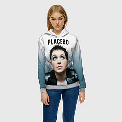 Толстовка-худи женская Placebo: Brian Molko цвета 3D-меланж — фото 2