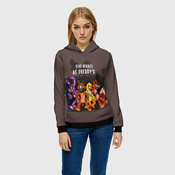 Толстовка-худи женская Five Nights At Freddy's цвета 3D-черный — фото 2