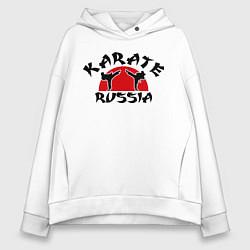 Толстовка оверсайз женская Karate Russia цвета белый — фото 1