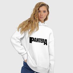Толстовка оверсайз женская Pantera цвета белый — фото 2