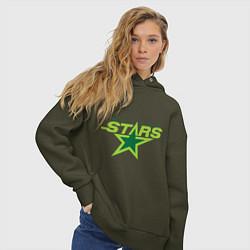 Толстовка оверсайз женская Dallas Stars цвета хаки — фото 2