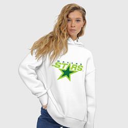 Толстовка оверсайз женская Dallas Stars цвета белый — фото 2