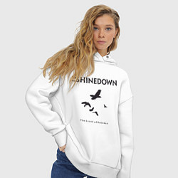 Толстовка оверсайз женская Shinedown: Sound of Madness цвета белый — фото 2