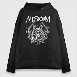 Толстовка оверсайз женская Alestorm: Pirate Bay цвета черный — фото 1