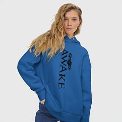 Толстовка оверсайз женская Skillet Awake цвета синий — фото 2