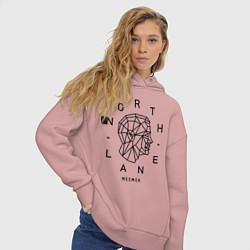 Толстовка оверсайз женская Northlane: Mesmer цвета пыльно-розовый — фото 2