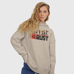 Толстовка оверсайз женская Evolution Rust цвета миндальный — фото 2