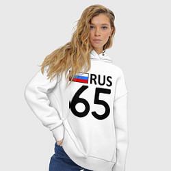 Толстовка оверсайз женская RUS 65 цвета белый — фото 2