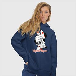Толстовка оверсайз женская Minnie Mouse цвета тёмно-синий — фото 2