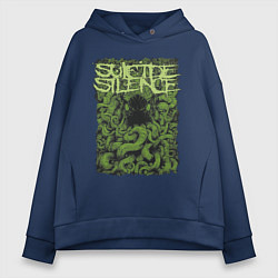 Толстовка оверсайз женская Suicide Silence цвета тёмно-синий — фото 1