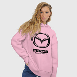 Толстовка оверсайз женская Mazda Zoom-Zoom цвета светло-розовый — фото 2