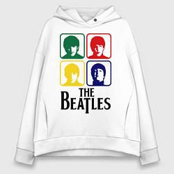 Толстовка оверсайз женская The Beatles: Colors цвета белый — фото 1