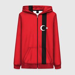 Толстовка на молнии женская Турция цвета 3D-красный — фото 1