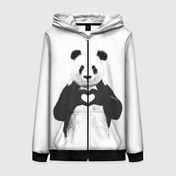 Женская толстовка на молнии Panda Love