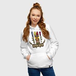 Толстовка-худи хлопковая женская Aku-Aku (Crash Bandicoot) цвета белый — фото 2