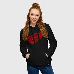 Толстовка-худи хлопковая женская Detroit Red Wings: Pavel Datsyuk цвета черный — фото 2