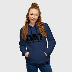 Толстовка-худи хлопковая женская DayZ: Slay Survive цвета тёмно-синий — фото 2
